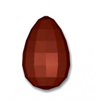Polycarbonate Glossy Diamond Chocolate Egg Mold 150x100 mm - 2 Cavity - 275x175x28mm