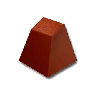 Polycarbonate Chocolate Mold Twisted Square 25x25x25mm - 5x7 Cavity - 12gr - 275x175 mm