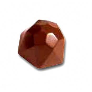 Polycarbonate Chocolate Mold Diamond Praline Mold - Ø27x29x22 mm - 5x7 pc - 10 gr - 275x175x26 mm