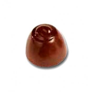Polycarbonate Chocolate Mold R Pralineound Mold - Ø28x20 mm - 5x7 pc - 10 gr - 275x175x26 mm