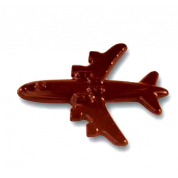 Polycarbonate Airplane Chocolate Mold - 75x61mm - 4+4 Cavity - 4 Whole fig - 8 gr - 275x175mm