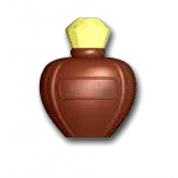 Polycarbonate Perfume Bottle Chocolate Mold - 80x65mm - 4+4 Cavity - 4 Whole fig - 275x175mm