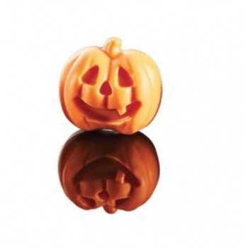 Polycarbonate Halloween Pumpkin Chocolate Mold - Double Mold - 34x31x15mm - 9+9 gr - 12+12 Cavity -  12 Whole fig - 275x175mm