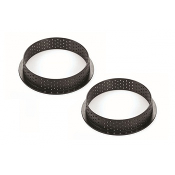 Silikomart Profesional TARTE RING Ø150 mm - Set of 2 Rings - Black