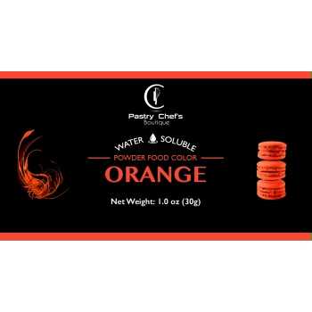 Water Soluble Color Powder - Orange - 25gr