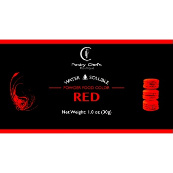 Water Soluble Color Powder - Red - 25gr