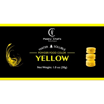 Water Soluble Color Powder - Yellow - 25gr