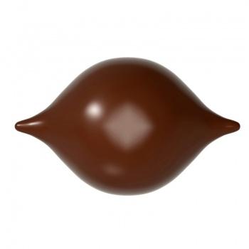 Polycarbonate Chocolate Mold Praline Curve 45.50x28.5x14 mm - 3x7 Cavity - 7.5 gr - 275x135x24