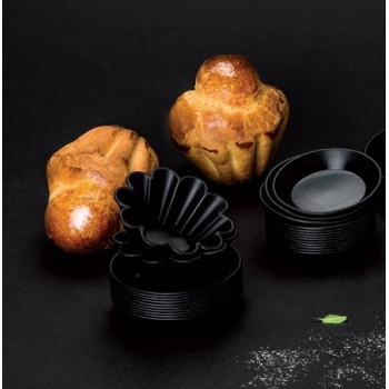 "Matfer Bourgeat Exoglass® Brioche Mold - H 1 1/10""- Ø 2 3/4"" - Pack of 24"