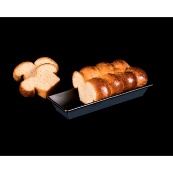 "Matfer Bourgeat Exopan® Steel Non-Stick Rectangular Flared Brioche Mold - L 11 3/4"", W 3 1/3"", H 1 1/2"""