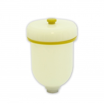 oz. Plastic Cup with cover for HVLP Gravity Feed Chocolate Touchup Spraying Gun
