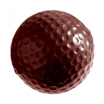 Polycarbonate Chocolate Golf Ball Mold - Ø40 mm -  3x6 pc - 2x20 gr -  275x135x24 mm
