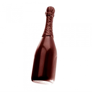 Polycarbonate Chocolate Champagne Bottle Mold - Ø64x220 mm - 1 pc - 250 gr - 275x135x35