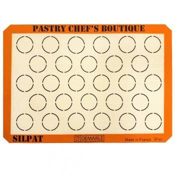 Sasa Demarle Silpat MACARONS Mat Big Sheet Pan Size (2/3 Sheet Pan) - 13.58''x 19.5'' for a 15''x21'' Sheet Pan.