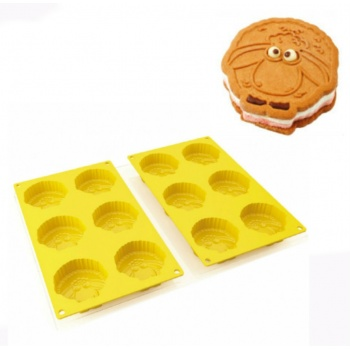 Pavogel Silicone Molds Sheep Sandwich Ice Cream Mold Set - 12 Indents and Tray