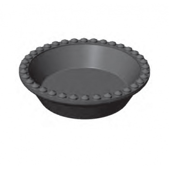 PAVONI Cookmatic Round Tart Shell Plates - ø 90 x 21 mm - 8 Cavity