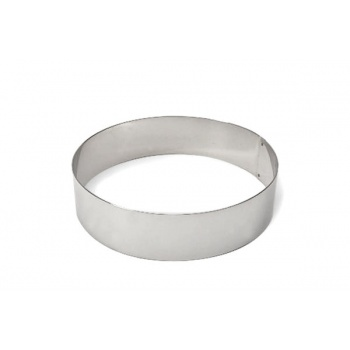 """Pastry Rings Round Stainless Steel 10"""" x 3"""""""