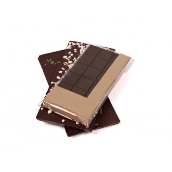 Chocolate Tablet Frame and Plastic - 76 x 158 x 10 mm - Kraft - Pack of 120 pcs