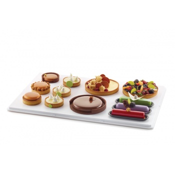 Level Tray - Entremets Level tray - 600 x 400 x 55 mm - White