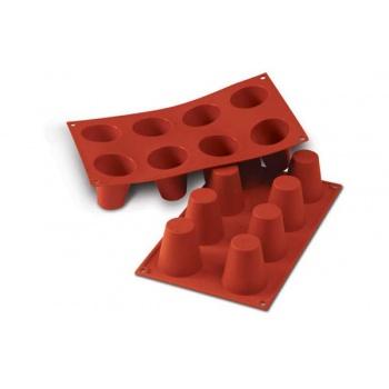 Silikonart Silicone Molds - Large Babas - Ø55 x 60 mm - 92 ml - 8 Cavity