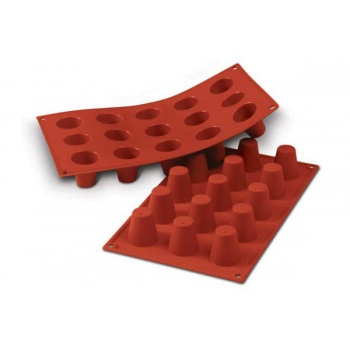 Silikonart Silicone Molds - Mini Babas - Ø35 x 38 mm - 30 ml - 15 Cavity