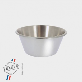 De Buyer Professional Stainless Steel Flat Bottom Bowl - 32 cm - 8 L