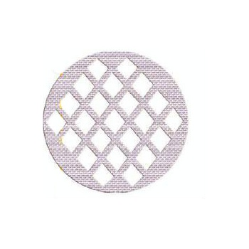 Sil'Tip Round Silicone Bread Mask Mat for Bread Design - Grid
