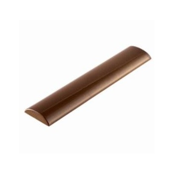 Polycarbonate Chocolate Flat Rounded Straight Bar Mold - 2.5 x 12 x 0.6 cm  - 10 Cavity - 275 x 135 x 24 mm