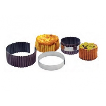Nonstick Fluted Round Pate Rings - 7 x 5 cm