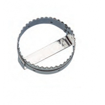 Fluted Round Stainless Steel Turnover Cutter Ø 13 cm