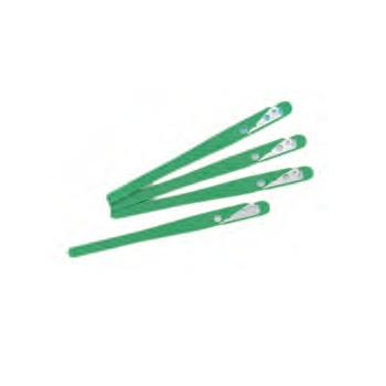 "Baker's Blade Plastic Handle "" Grignette Verte"" - Pack of 10"