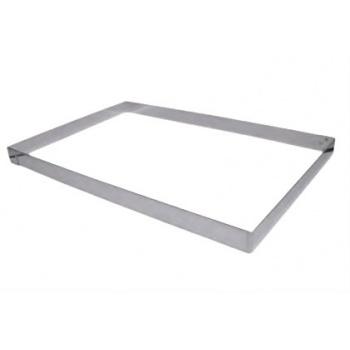 Stainless Steel Rectangular Pastry Frame 57 x 37 x 2.5 cm