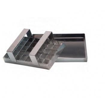 Stainless Steel Caramel Cutter - 40 Cuts - 20 x 12.5 cm - 2.5 x 2.5 cm Cubes
