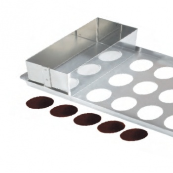 Sliding Filler for Chocolate Tuile Making Set 160 x 90 x 80 mm - Stainless Seel