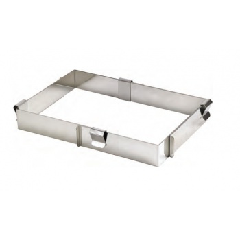 Rectangle Extensible Pastry Cake Frame - 4.5 cm High - 29.5 x 56 cm