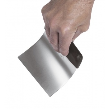 Stainless Steel Scraper 3 3/4'' x 4 3/4'' - Flexible Straight Blade