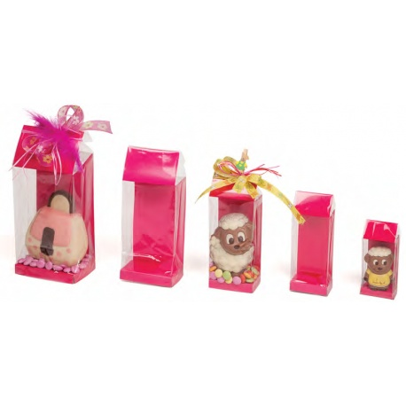 Deluxe Confectionnery Display Bags - 55 x 35 x 180 mm - Fuschia