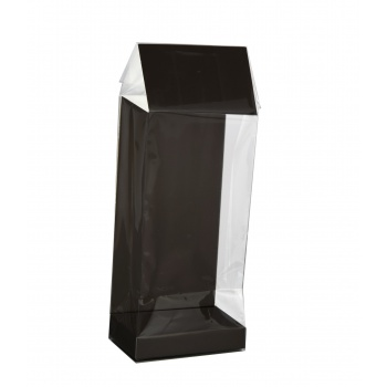 Deluxe Confectionnery Display Bags - 55 x 35 x 180 mm - Matte Black - 120 pcs