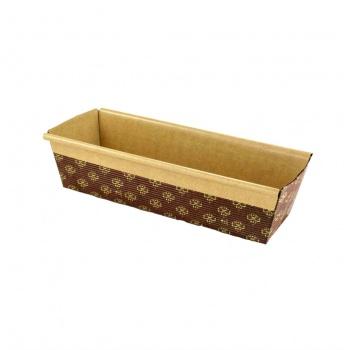 Novacart Rectangular Paper Loaf Pan Molds - Large  9''x2 7/8''x2.5'' - PM227