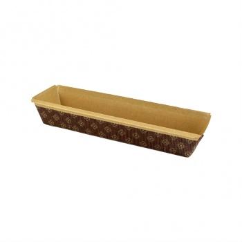 Novacart Paper Loaf Pans 10  1/4'' x 2 5/8'' x 2 3/16'' - 1000 pcs - PM260