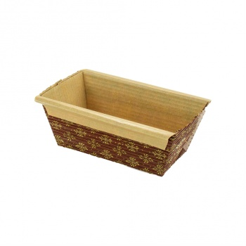 Novacart Paper Loaf Pans Mini - 4''x2''x2'' - PM100 - 25 pcs