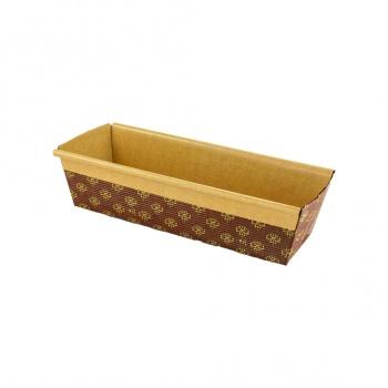 Novacart Rectangular Paper Loaf Pan Molds - Medium - 7.75''x2.5''x2 - PM200 - 25 pcs