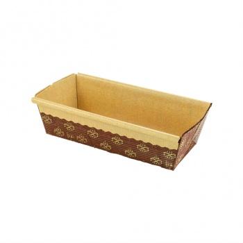 Novacart Paper Loaf Pans Small 6'' x 2.5'' x 2'' - PM150 - 25 pcs