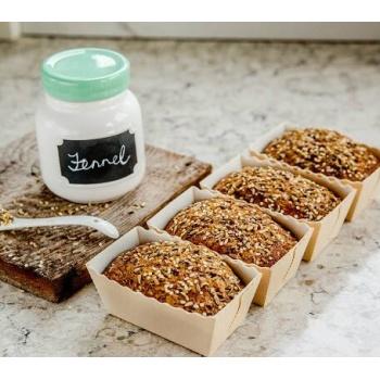 Easy Bake Natural Kraft Mini Cakes 80 x 40 x 40 mm - Pack of 25