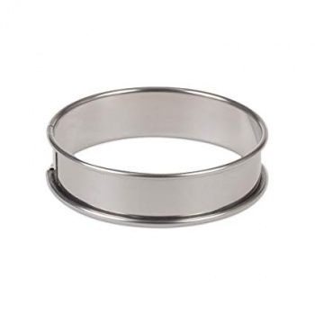 Deep Stainless Steel Quiche Tart Ring 12 x 2.6 cm -