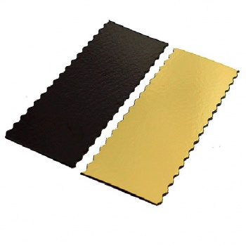 Wavy Base for log Gold - 34.5 x 10 cm - 13.6'' - 50pcs