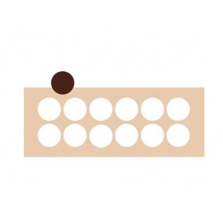 Rubber Chocolate chablons - Circle - Ø 5 cm - 12 Cavity
