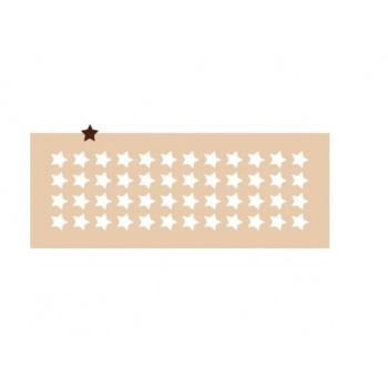 Rubber Chocolate chablons - Small Stars - 2 cm - 0.78'' - 48 Indents