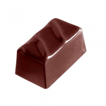 Polycarbonate Chocolate Mold Lined Rectangle Praline Mold - 35x20x17 mm - 4x8 pc - 14 gr - 275x175x26 mm