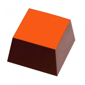 Chocolate Transfer Sheets - Mono Color - Orange - Pack of 20 Sheets - 135 x 275 mm